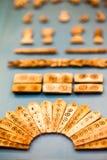 29. 07. 2015, LONDON, UK, BRITISH MUSEUM - Decorative bone inlays from Jericho Stock Image