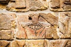 LONDON, UK, BRITISH MUSEUM Egyptian carved scene Royalty Free Stock Image