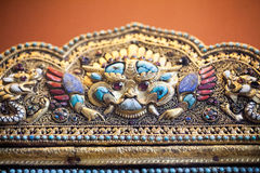 LONDON, UK, BRITISH MUSEUM. Indian impressive details and work, fine objects with precious stones and metals Stock Photography