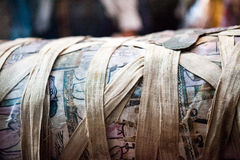 LONDON, UK, BRITISH MUSEUM - Painted scenes on egyptian coffins Stock Photography