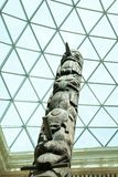 29. 07. 2015, LONDON, UK, BRITISH MUSEUM Totem poles from British Columbia, Canada Stock Photography