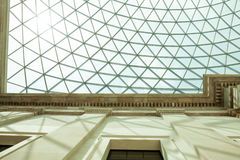 LONDON, UK - British Museum view and details Royalty Free Stock Photo