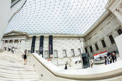 29. 07. 2015, LONDON, UK - British Museum view and details Royalty Free Stock Images