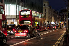 London, UK, Busy London street at Evening Stock Image