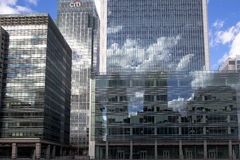 LONDON, UK - CANARY WHARF, MARCH 22, 2014 Royalty Free Stock Photography