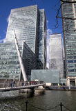 LONDON, UK - CANARY WHARF, MARCH 22, 2014 Stock Photography
