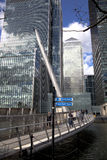 LONDON, UK - CANARY WHARF, MARCH 22, 2014 Royalty Free Stock Images