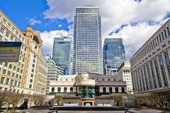 LONDON, UK - CANARY WHARF, MARCH 22, 2014 West India avenue Stock Photos