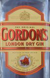 Bottle of Gordons London Dry Gin in London. LONDON, UK - CIRCA FEBRUARY 2018: Bottle of Gordon London Dry Gin alcoholic drink Stock Photos