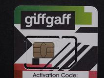 GiffGaff sim card in London Royalty Free Stock Photography