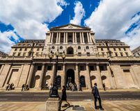 Bank of England in London (hdr) Royalty Free Stock Images