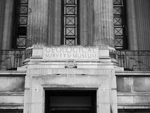 Natural History Museum in London black and white. LONDON, UK - CIRCA JUNE 2017: Geological Survey museum at the Natural History Museum on Exhibition Road in stock image