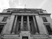 Natural History Museum in London black and white. LONDON, UK - CIRCA JUNE 2017: Geological Survey museum at the Natural History Museum on Exhibition Road in royalty free stock photo