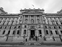 HMRC in London black and white. LONDON, UK - CIRCA JUNE 2017: HMRC Her Majesty Revenue and Customs building in black and white Stock Image