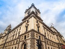 HMRC in London, hdr. LONDON, UK - CIRCA JUNE 2017: HMRC Her Majesty Revenue and Customs building, high dynamic range Royalty Free Stock Images