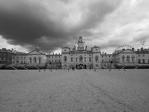 Horse Guards parade in London black and white. LONDON, UK - CIRCA JUNE 2017: Horse Guards parade ground in black and white Royalty Free Stock Photos