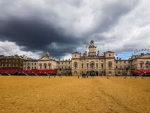Horse Guards parade in London, hdr. LONDON, UK - CIRCA JUNE 2017: Horse Guards parade ground, high dynamic range Stock Photos