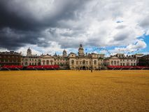 Horse Guards parade in London, hdr. LONDON, UK - CIRCA JUNE 2017: Horse Guards parade ground, high dynamic range Royalty Free Stock Photo