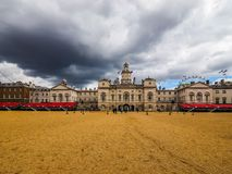 Horse Guards parade in London, hdr. LONDON, UK - CIRCA JUNE 2017: Horse Guards parade ground, high dynamic range Royalty Free Stock Images