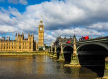 Houses of Parliament in London (hdr) Royalty Free Stock Photo