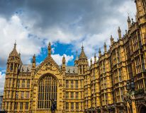 Houses of Parliament in London, hdr. LONDON, UK - CIRCA JUNE 2017: Houses of Parliament aka Westminster Palace, high dynamic range Stock Image