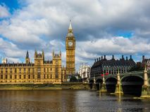 Houses of Parliament in London, hdr. LONDON, UK - CIRCA JUNE 2017: Houses of Parliament aka Westminster Palace, high dynamic range Stock Images