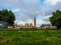 Houses of Parliament in London, hdr. LONDON, UK - CIRCA JUNE 2017: Houses of Parliament aka Westminster Palace, high dynamic range Royalty Free Stock Image