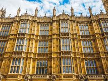 Houses of Parliament in London, hdr. LONDON, UK - CIRCA JUNE 2017: Houses of Parliament aka Westminster Palace, high dynamic range Royalty Free Stock Photography