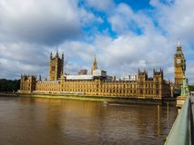 Houses of Parliament in London, hdr. LONDON, UK - CIRCA JUNE 2017: Houses of Parliament aka Westminster Palace, high dynamic range Royalty Free Stock Images