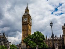 Houses of Parliament in London, hdr. LONDON, UK - CIRCA JUNE 2017: Houses of Parliament aka Westminster Palace, high dynamic range Royalty Free Stock Photo