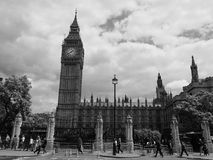 Houses of Parliament in London black and white Stock Photography