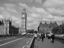 Houses of Parliament in London black and white Royalty Free Stock Images