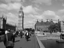 Houses of Parliament in London black and white