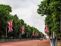 Mall in London, hdr. LONDON, UK - CIRCA JUNE 2017: The Mall links Trafalgar Square to Buckingham Palace, high dynamic range Stock Image