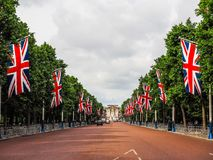 Mall in London, hdr. LONDON, UK - CIRCA JUNE 2017: The Mall links Trafalgar Square to Buckingham Palace, high dynamic range Stock Photography
