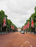 Mall in London (hdr). LONDON, UK - CIRCA JUNE 2017: The Mall links Trafalgar Square to Buckingham Palace (high dynamic range Royalty Free Stock Photo