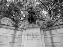Brunel statue in London black and white Stock Photography