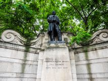Brunel statue in London (hdr) Stock Photos