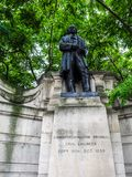 Brunel statue in London (hdr) Royalty Free Stock Image