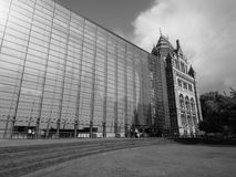 Natural History Museum in London black and white. LONDON, UK - CIRCA JUNE 2017: The Natural History Museum on Exhibition Road in South Kensington in black and stock images