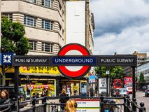 Notting Hill Gate tube station in London, hdr Stock Photos