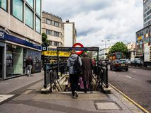 Notting Hill Gate tube station in London, hdr Stock Photography