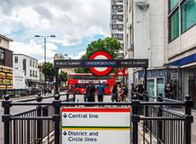 Notting Hill Gate tube station in London (hdr) Royalty Free Stock Image