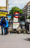 Notting Hill Gate tube station in London (hdr) Royalty Free Stock Images