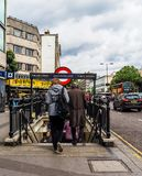 Notting Hill Gate tube station in London (hdr) Stock Photography