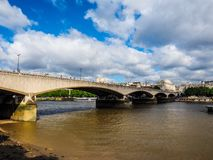 River Thames in London (hdr) Royalty Free Stock Images