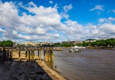 River Thames in London, hdr Royalty Free Stock Photos