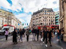 People in Oxford Circus in London, hdr Stock Images
