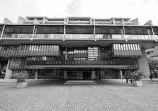Queen Elizabeth II Centre in London black and white Royalty Free Stock Images