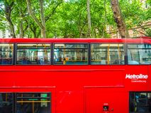 Red bus in London, hdr Stock Photography